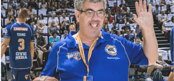 Adrian is Brisbane Bullets' biggest fan!